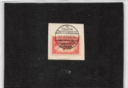 1920.- MARIENWADER.- 1M DEUTSCHES REICH MIT AUFDRUCK MARIENWADER YV Nº28.-BRIEFSTUCK MIT ALTFELDE (UR MARIENBURG - Alemania
