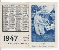 Calendrier De Poche 1947 - Calendars