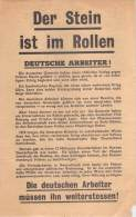 WWII WW2 Propaganda Tract Leaflet Flugblatt, Code XG20, Der Stein Ist Im Rollen, FREE SHIPPING WORLDWIDE - Vieux Papiers