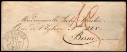 SUISSE: CàD AUVERNIER Sur LSC De 1856
