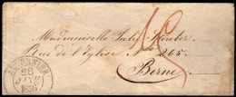 SUISSE: CàD AUVERNIER Sur LSC De 1856 - 1854-1862 Helvetia (Non-dentelés)