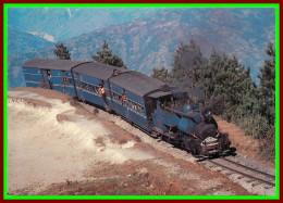 Théme Train , Locomotive , Chemin De Fer , Sncf , En Inde Ligne De Darleeling   ( Voir Scan Recto Et Verso ) - Gares - Avec Trains
