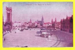 * Oostende - Ostende - Ostend (Kust - Littoral) * La Place De La Gare, Bahnhof, Tram, Vicinal, Railway Station, Rare Old - Oostende