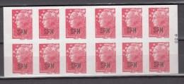 St. Pierre & Miquelon 2009,12V,Ovpt Standardt Stamps,Booklet,MNH/Postfris(L1615 - St.Pierre & Miquelon