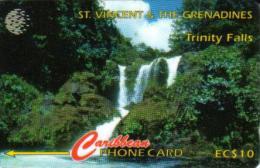 ST. VINCENT & THE GRENADINES $10 TRINITY WATERFALLS LANDSCAPE STV-13A READ DESCRIPTION !! - San Vicente Y Las Granadinas