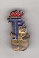 DDR Badge - East Germany German Pioneer Organisation Ernst Thalmann Pin Badge - Gilded - Organizations