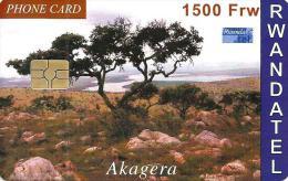 RWANDA 1500 FRANCS AKAGERA TREE LANDSCAPE CHIP  READ DESCRIPTION !!! - Rwanda