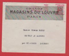 Env + Lettre -- Magasin Du Louvre --  Paris  --  31 /8/ 1928 - 1921-1960: Modern Tijdperk