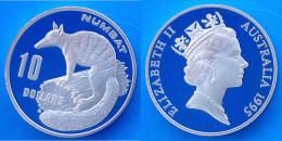 AUSTRALIA 10 $ 1995 ARGENTO PROOF WILDLIFE NUMBAT RARA VLADIMIR GOTTWALD PESO 20,77g TITOLO 0,999 CONSERVAZIONE FONDO SP - Australia