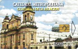 GUATEMALA 30 Q CATEDRAL METROPOLITANA CHURCH CHIP READ DESCRIPTION  !!! - Guatemala