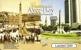 GUATEMALA 30 Q AYER - HOY MONUMENT BUILDINGS CHIP READ DESCRIPTION  !!! - Guatemala