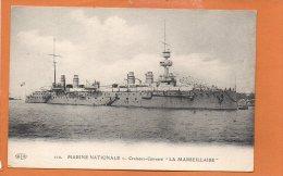 """Marine Nationale - Croiseur Cuirassé """"La Marseillaise """" - Guerre"""