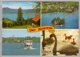 Der Attersee , Mehrbildkarte - Attersee-Orte