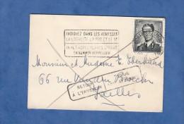 Enveloppe Ancienne - BRUXELLES - Cachet Retour à L´ Envoyeur - 1955 - Etiquette & Cachet Parti Sans Laisser D´adresse - Belgium