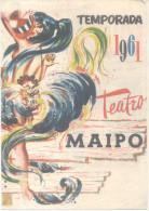 BUENOS AIRES L´ARGENTINE TEATRO MAIPO AÑO 1961 PROGRAMAMI BELLA REVISTA JUAN VERDAGUER ALFREDO BARBIERI AMBAR LA FOX EL - Programmes