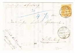 Heimat SG Alt St. Johann 21.11.1870 Mit 20Rp. Sitzende Auf Brief Nach Lichtensteig - 1862-1881 Sitzende Helvetia (gezähnt)