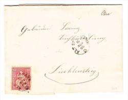 Heimat SG Alt St. Johann 15.11.1869 Mit 10Rp. Sitzende Helvetia Auf Brief Nach Lichtensteig - 1862-1881 Helvetia Assise (dentelés)