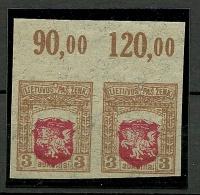 LITAUEN Lithuania 1919 Michel 38 U In Pair + ERROR MNH (hinged At Margin Only) - Litauen