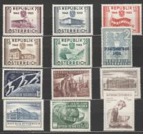 Österreich / Austria, 1955, Ausgaben Ohne Freimarken, Postfrisch Ohne Falz **, Mit PF - 1945-60 Nuevos & Fijasellos