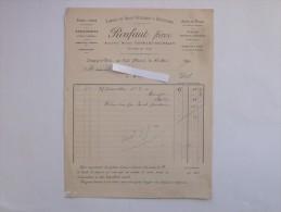 LOUPPY-LE-PETIT (55) Par CONDE: Facture 1891 Fabrique De Grosse Coutellerie & Quincaillerie - RONFAUT Frères - 1800 – 1899