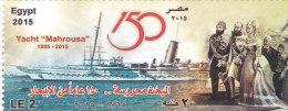 "Egypt New Issue 2015, 150 Ann Yacht ""AL MAHROUSSA "" 1v.complete Set MNH - Egypt"