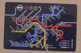 RATP METRO RER SNCF - PLAN LIGNES - 1982 - 2 SCANS - Europe