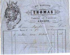 VP2877 - Tanneur & Corroyeur Mr THOMAS à BEAUNE - Petits Métiers