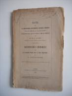 ALSACE, EGUISHEIM - NOTE SUR LA DECOUVERTE D´OSSEMENTS, 1867, EGUISHEIM, COLMAR, Dr FAUDEL - Alsace