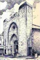 30 AIGUES MORTES Eglise Notre Dame Des Sablons,illustrateur Ducourtioux - Aigues-Mortes