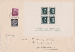 ALLEMAGNE 1937 LETTRE DE HANNOVRE AVEC BLOC - Alemania