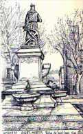 30 AIGUES MORTES Statue De St Louis,illustrateur Ducourtioux - Aigues-Mortes