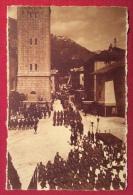 CORTINA - 1919 CORTEO  CON ONORI MILITARI - ANNULLI: CORTINA AUSTRIACO+AURONZO + VILLAPICCOLA BELLUNO- ED.A.LUTTERI - Belluno