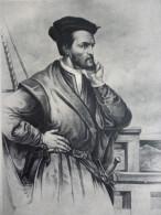 Jacques Cartier , Né A Saint Malo , 1494 1554 , Héliogravure - Historische Documenten