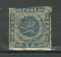 DANEMARK N° 3 * (pli) - 1851-63 (Frederik VII)
