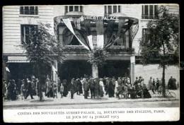 Cpa Du 75 Paris 9ème Cinéma Des Nouveautés Boulevard Des Italiens Le Jour Du 14 Juillet 1915  FEV16 24 - Arrondissement: 09