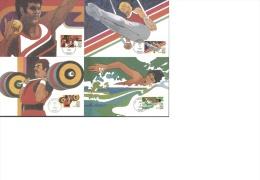 1984 - 4 X Olympic Summer Games Postcards - Cancelled LOS ANGELES Apr 8 1983 - Scott Catnr C105 - C108 - Summer 1984: Los Angeles