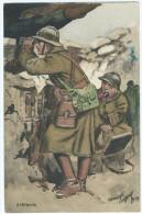 Carte Postale Illustrée Par Maurice Toussaint - Artillerie Dans Les Tranchées - TBE - Guerre 1939-45