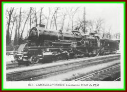 Théme Train  , Locomotive , Chemin De Fer , Sncf ,  à Laroches Migennes    ( Voir Scan Recto Et Verso ) - Stations With Trains