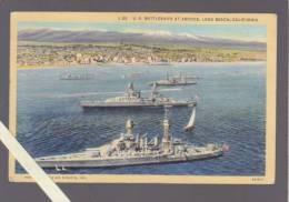 Etats Unis Amerique - Long Beach, U S Battleships At Anchor - Long Beach