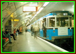 Théme Métro  , Locomotive , Chemin De Fer , Sncf , Gare Austerlitz    ( Voir Scan Recto Et Verso ) - U-Bahnen