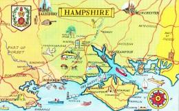 HAMPSHIRE/ Carte Géographique/ Réf:C4311 - Autres