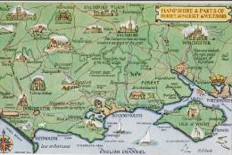 HAMPSHIRE/ Carte Géographique/ Réf:C4312 - Autres