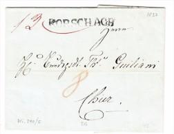 Heimat SG RORSCHACH Balkenstempel Auf Brief 12.5.1837 Nach Chur - Svizzera