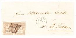 Heimat SG Oberuzwyl 17.6.1856 Waagrechtes Paar 5Rp. Strubel  Brief Nach St Gallen Attest Zumstein - 1854-1862 Helvetia (Non-dentelés)