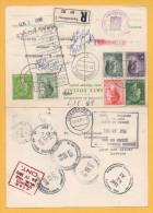 Luxemburg - Charlotte - Postkarte 134 -  Doppelkarte - Einschreiben Nach Kanada Mit Rückantwort - Brieven En Documenten