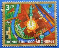 1257 NORWAY NORGE 3,70 Kr 1997 1000 GODINA OF TRONDHEIM - USED - Norvegia