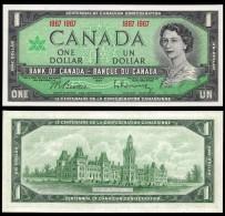 Canada 1 DOLLAR 1867-1967 P 84a UNC - Canada