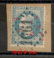 78 B2, 8° état. Planchage Napoléon Lauré. GC 1661 GIVORS Rhone. - 1863-1870 Napoleon III With Laurels