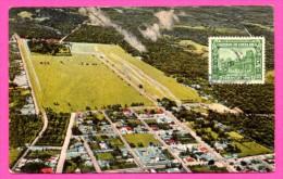 Sabana Y Alrededores - San José C.R. - Vue Aérienne - CARLOS FEDERSPIEL & Co - Timbre Cenco Centavos 1929 - Colorisée - Costa Rica