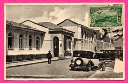 San José C.R. Hospital De San Juan De Dios - Vieilles Voitures - Animée - CARLOS FEDERSPIEL & Co - Timbre CORREO AEREO - Costa Rica